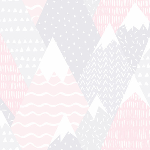 Kids Holden Wallpaper | Mountains Pink | 91051