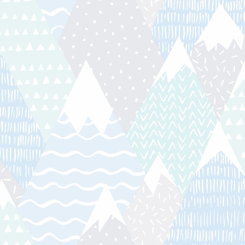 Kids Holden Wallpaper | Mountains Soft Teal | 91052