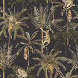 Ateles Black Wallpaper | Holden 91102 | Tropical Wallpaper