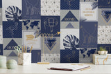Explorer Navy Wallpaper | Holden 12902 | Navy Wallpaper