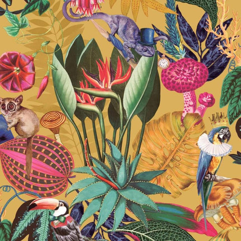 Reverie Ochre Wallpaper | Holden 91170 | Tropical Wallpaper