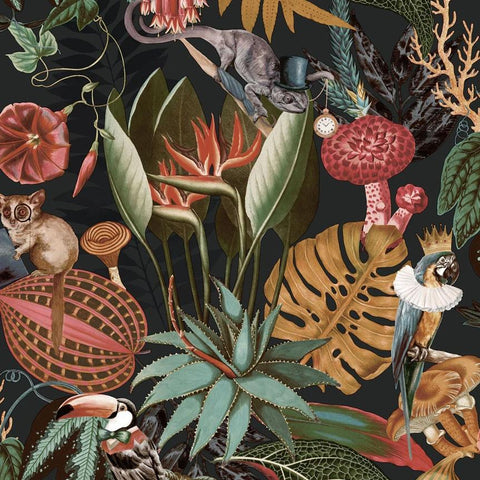 Reverie Black Wallpaper | Holden 91173 | Tropical Wallpaper
