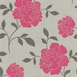 March Wallpaper Clearance | Kenneth James Fine Decor Bloom Pewter/Pink | FD66924