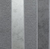 Calico Stripe Gunmetal | Arthouse Wallpaper | 921301