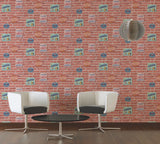 AS Creations Wallpaper - Retro Red Brick Signs - 94282-1