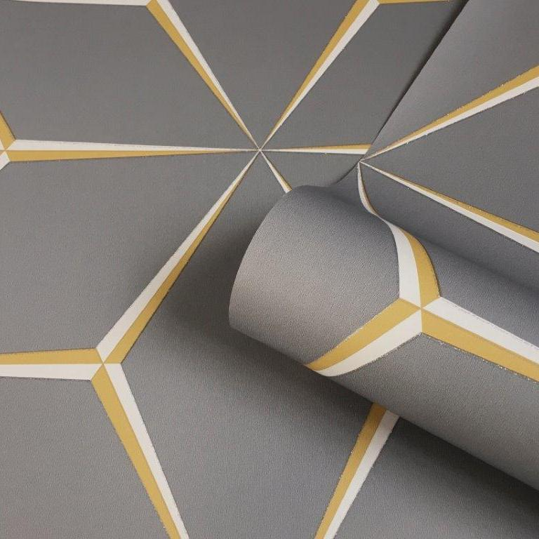 Belgravia Decor Wallpaper | Harper Yellow/Grey | 9740