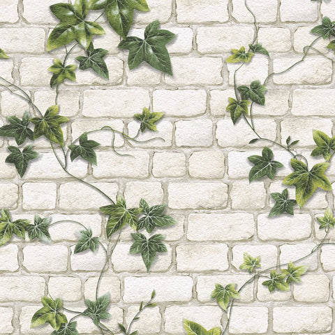 AS Creation Wallpaper | Brick & Ivy Green | 9804-34