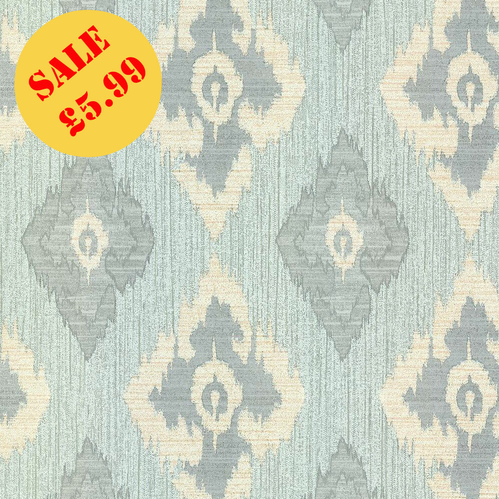 SALE Erismann Wallpaper | Romano Diamond Soft Teal | 9791-07