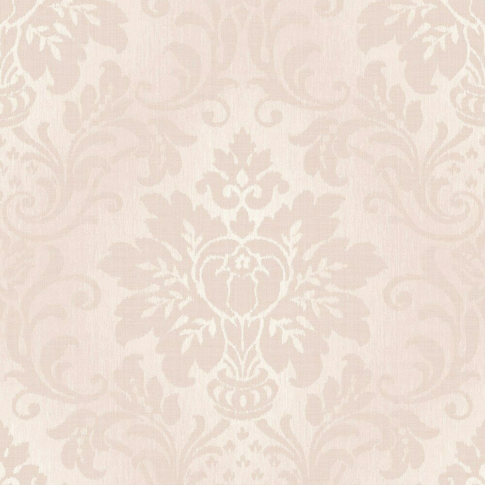 GranDeco Royal House Wallpaper | Fabric Damask Blush Pink | A10906
