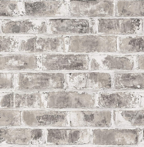 Fine Decor Wallpaper | Urban Walls Distressed Brick Grey | UW24761