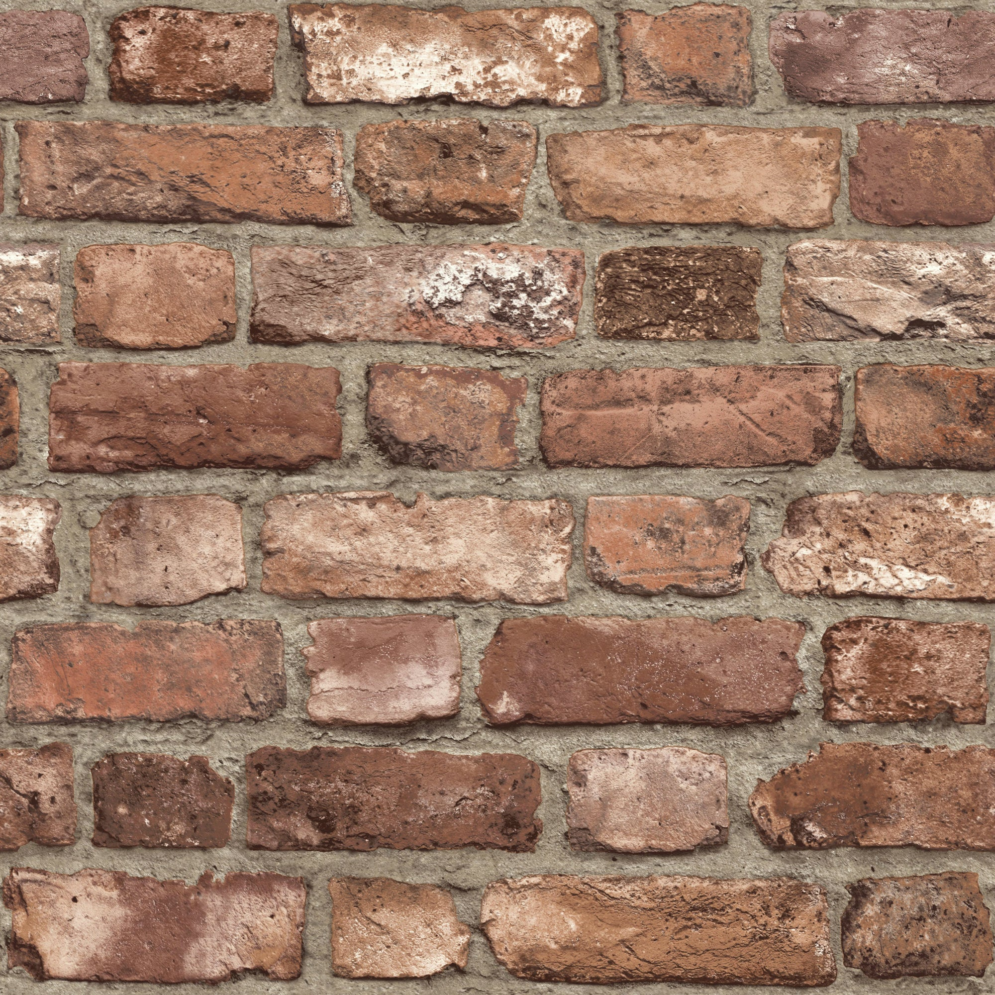 Stone Wall Mural Grandeco Life Wallpaper Vintage Red Brick A28901