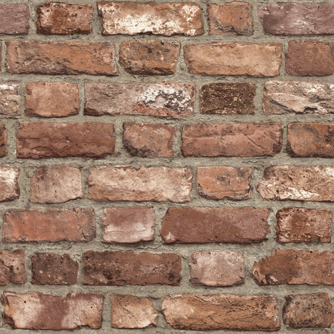 Grandeco Life Wallpaper | Vintage Red Brick | A28901