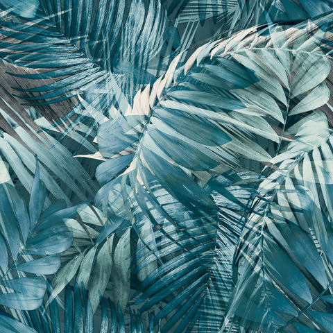 Antiqua Palm Blue | GranDeco Life Wallpaper | 170705