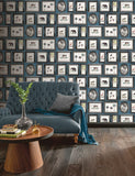 Powder Room Navy Wallpaper | Arthouse 908405 | Tropical Wallpaper