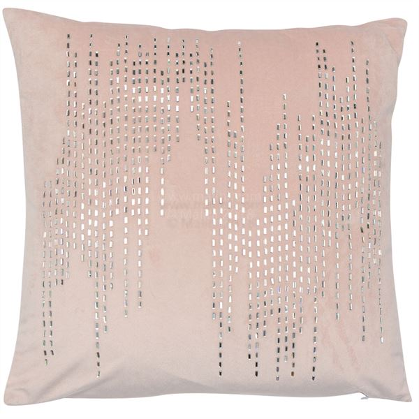 Bijoux Pink Diamond Cushion | Feather Filled | Malini Designs