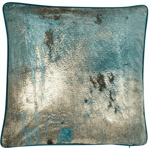 Brisk Teal Cushion | Malini Designer Cushion | WonderWall