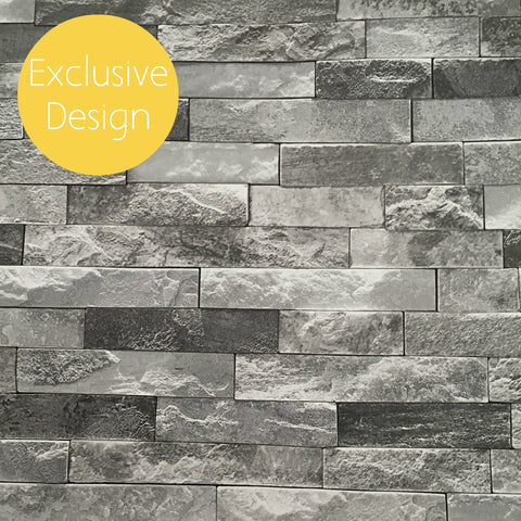 Exclusive Arthouse Wallpaper | Azure Slate Charcoal | 902708