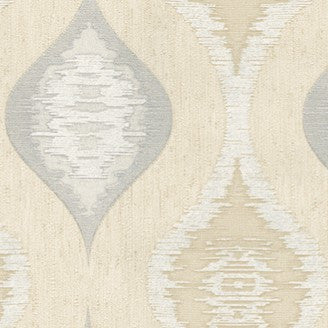 Belgravia Eleganza Wallpaper | San Marino Wave Cream/Silver | GB3708