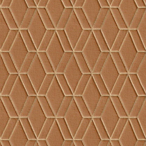 Diamond Stitch Orange/Gold | Design id DecorTex | DE120065