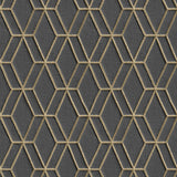 Diamond Stitch Black/Gold | Design id DecorTex | DE120066