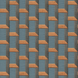 Stitch Geometric Blue/Orange | Design id DecorTex | DE120076