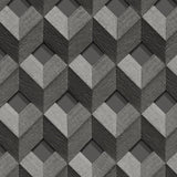 3D Cube Grey/Silver | Design id DecorTex | DE120133