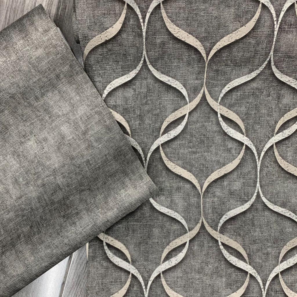 Milano Wave Pewter | Fine Decor Wallpaper | M95614