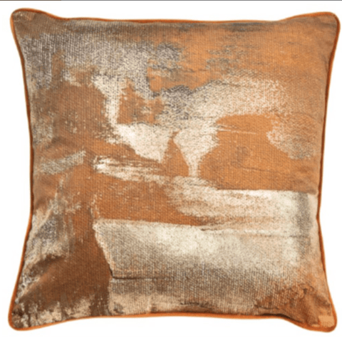 Desert Orange Cushion | Malini Designer Cushion | WonderWall