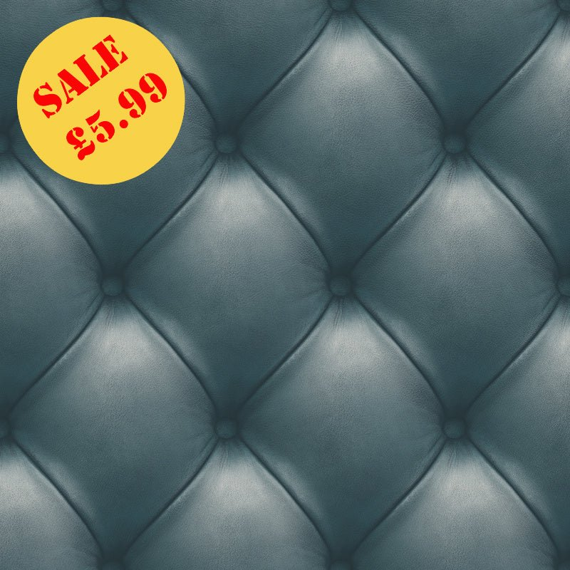 SALE Deco4Walls Wallpaper | Leather Wall Blue | EW3001