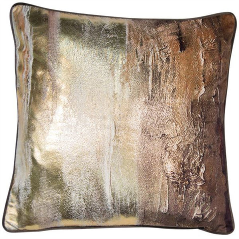 Earth Foil Cushion| Feather Filled | Malini Designs