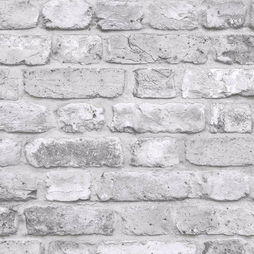 Grandeco Wallpaper | Facade Brick Grey | FC2503