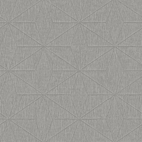Fine Decor Exclusive Wallpaper | Geo Texture Pewter | FD25341