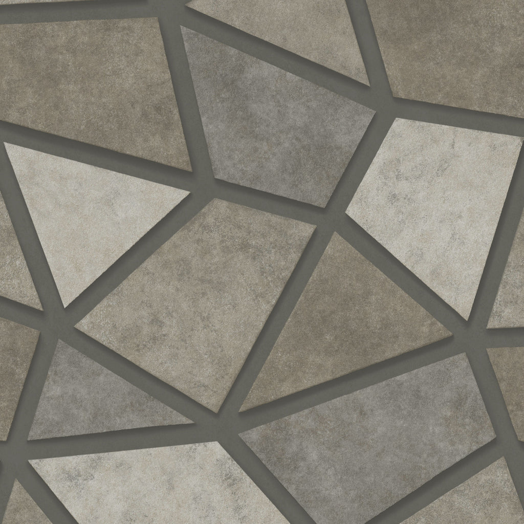 Fine Decor Exclusive Wallpaper | 3D Geo Pewter | FD25348