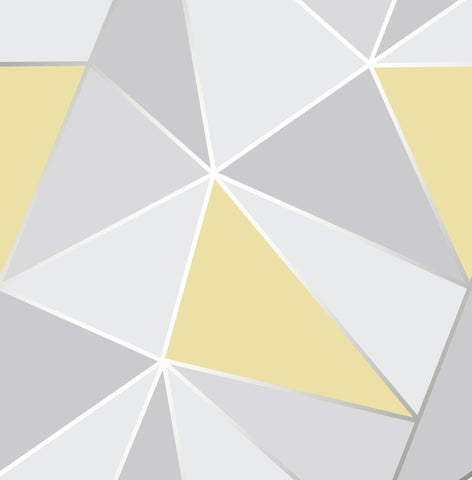 Fine Decor Wallpaper | Apex Geometric Yellow | FD41991
