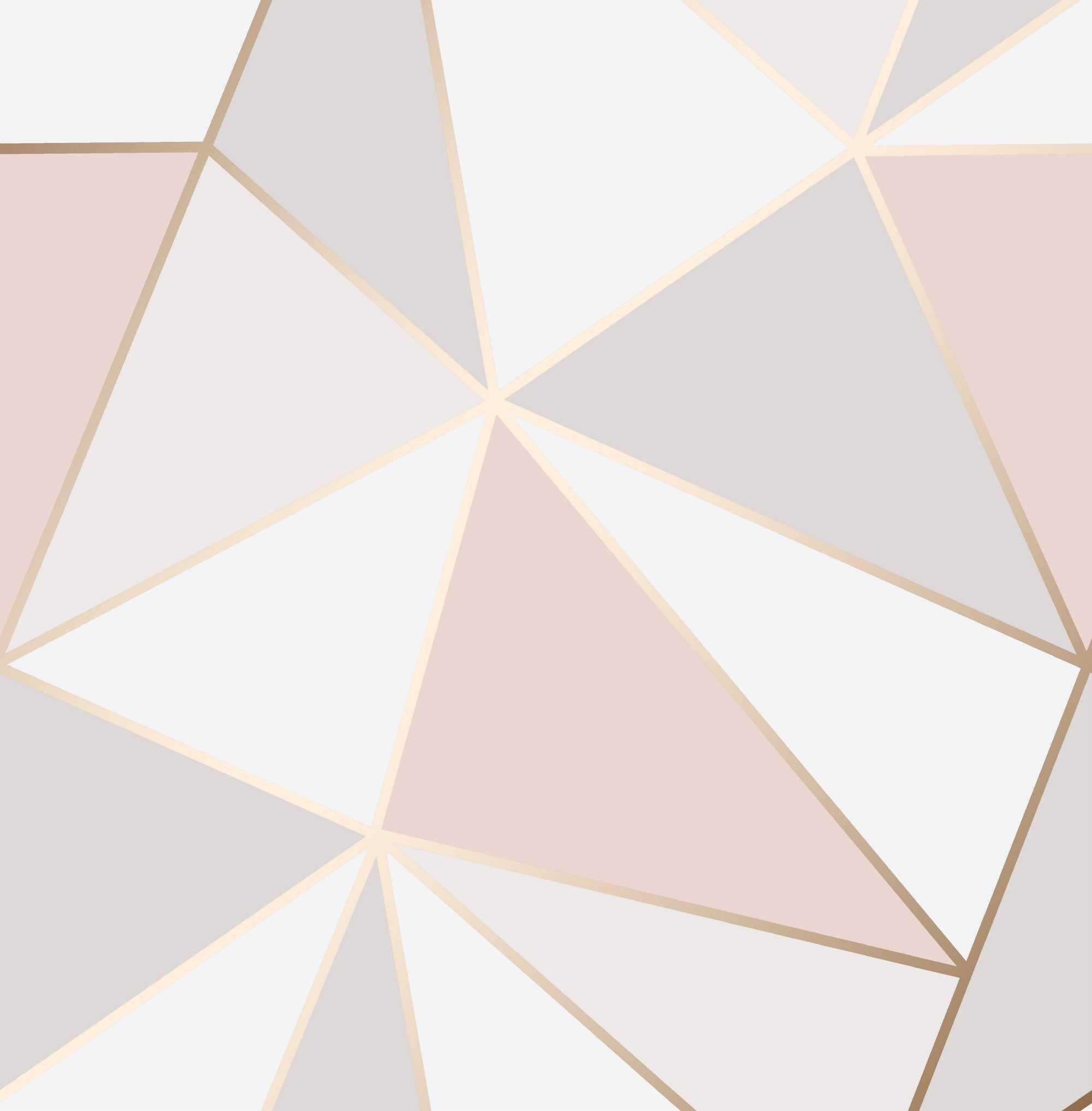 Papier Peint Pois Roses : Fine decor wallpaper apex geometric rose gold fd