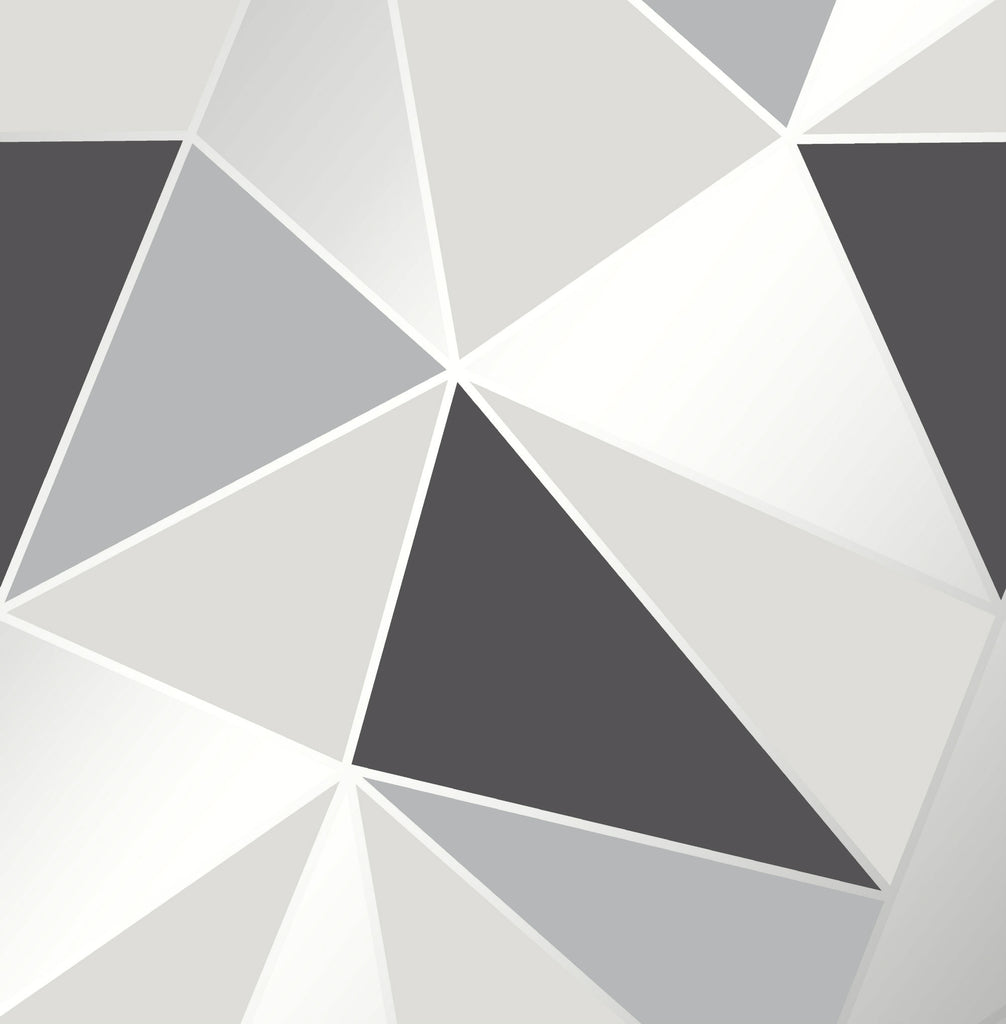 Fine Decor Wallpaper | Apex Geometric Grey | FD41994