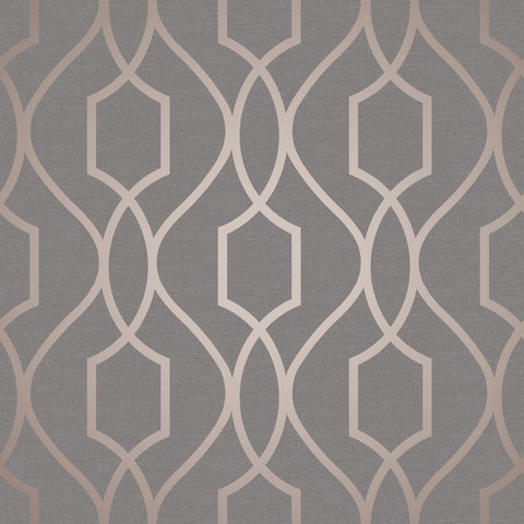 Fine Decor Wallpaper | Apex Trellis Copper | FD41998