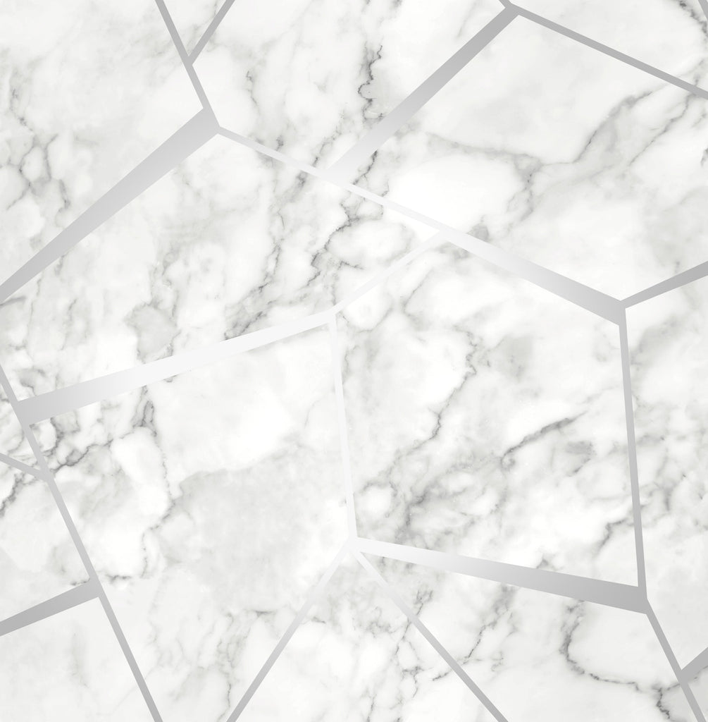 Fine Decor Wallpaper | Marbles Inspire Grey/Silver | FD42263
