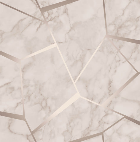 Fine Decor Wallpaper | Fractal Marble Rose Gold | FD42264