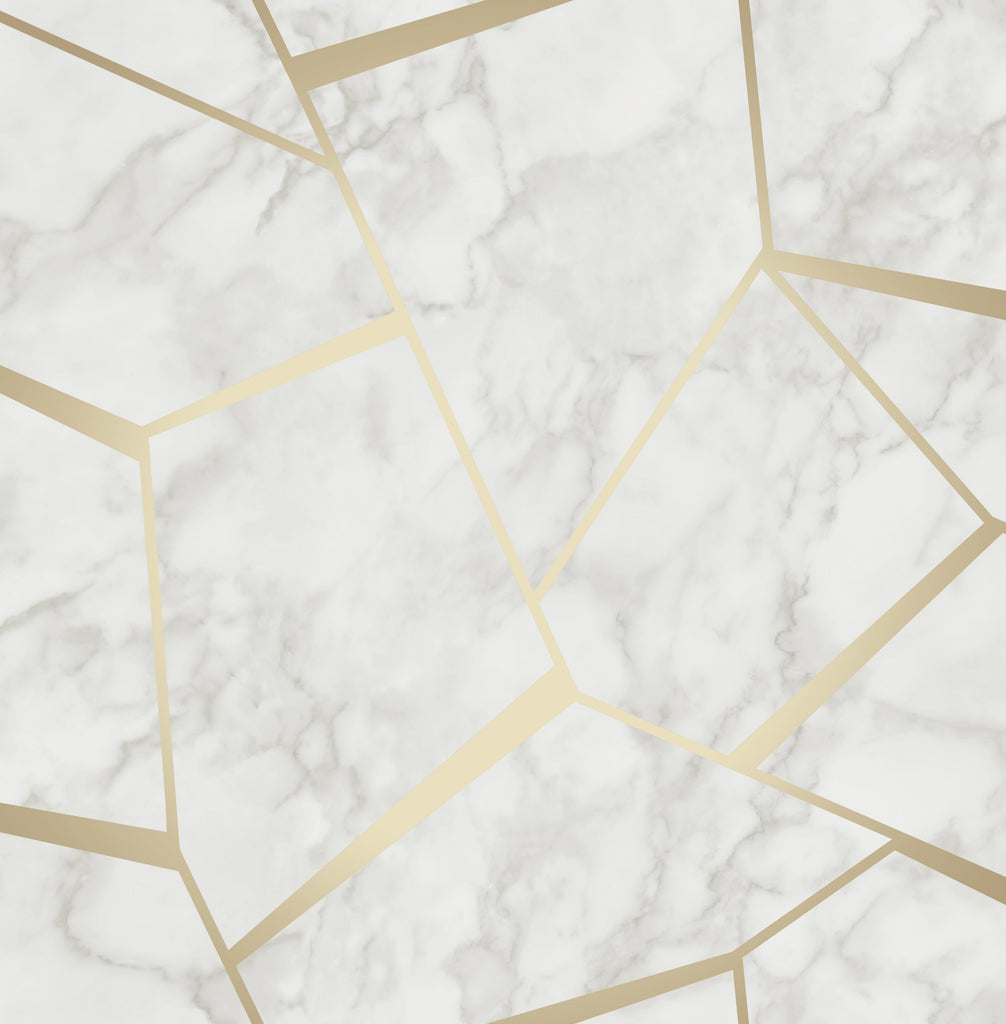 Fine Decor Wallpaper | Marbles Inspire Grey/Gold | FD42265