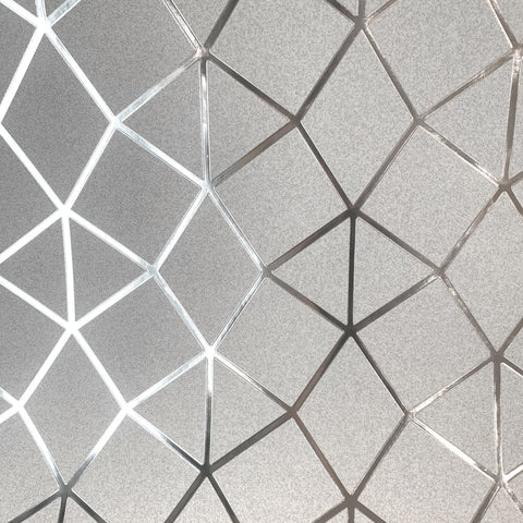 Fine Decor Platinum Wallpaper | Geo Trellis Grey/Silver | FD42489