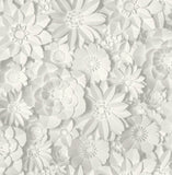 Fine Decor Wallpaper | Dimensions Floral White/Grey | FD42554