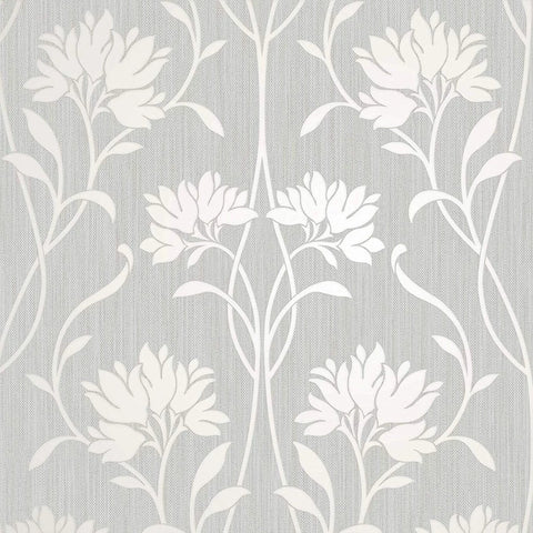 Fine Decor Wallpaper | Florence Floral Grey | FD42585