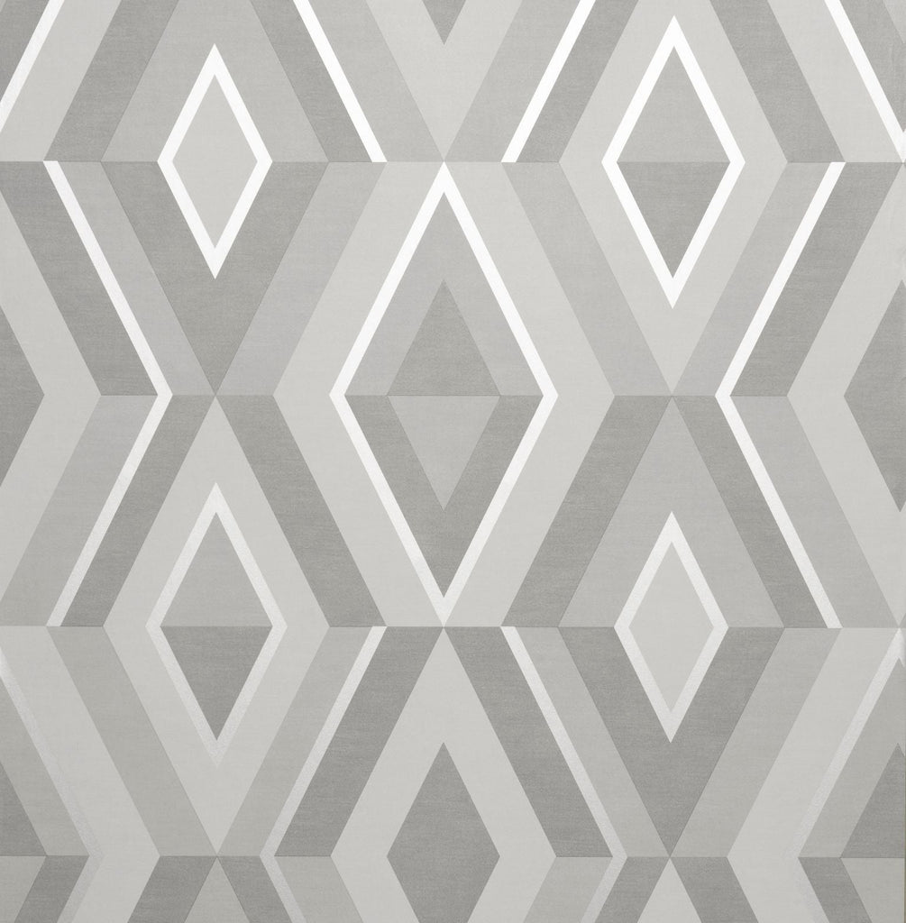 Shard Diamond Silver/Grey Wallpaper | Fine Decor FD42606