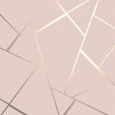 Quartz Fractal Blush Pink | Fine Decor Wallpaper FD42682