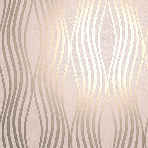 Quartz Wave Blush | Fine Decor Wallpaper FD42685