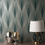 Quartz Wave Emerald Green | Fine Decor Wallpaper FD42687