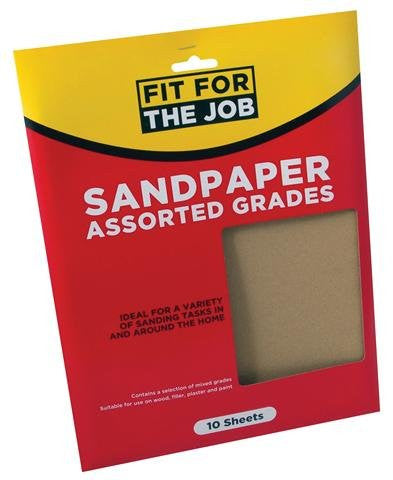 10pc Assorted Sandpaper