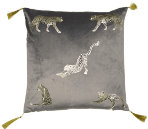 Feline Grey/Gold Cushion