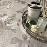 Amara Rose Silver Wallpaper | Belgravia Decor GB7365